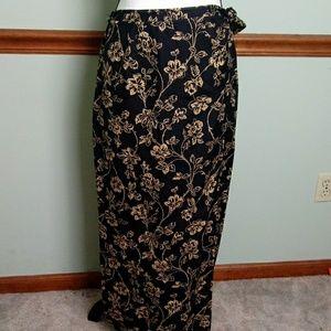 Lauren Ralph Lauren silk / linen size 8 wrap skirt